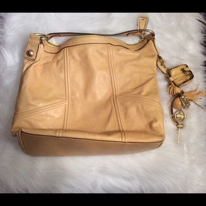 Juicy couture yellow leather handbag